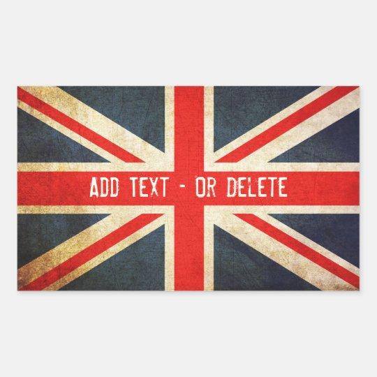 Grunge Union Jack Stickers / British Stickers