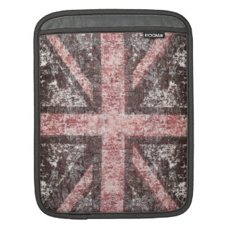Grunge Union Jack - stone look Sleeves For iPads