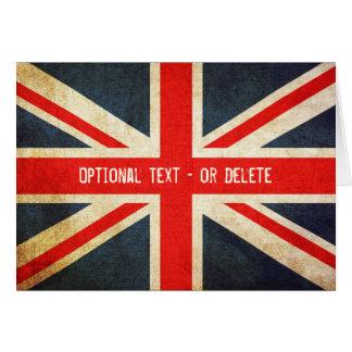 Grunge Union Jack/tarjeta británica de la bandera Tarjeta Pequeña