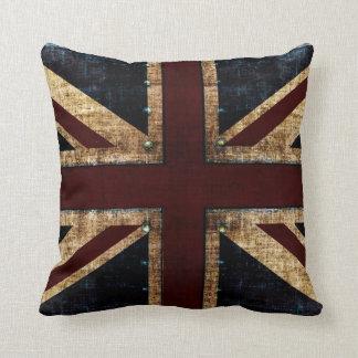 Grunge Union Jack toss pillows