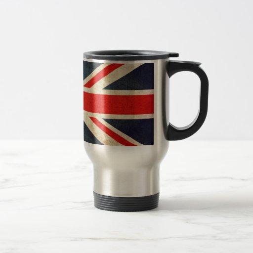Grunge Union Jack Travel Mug