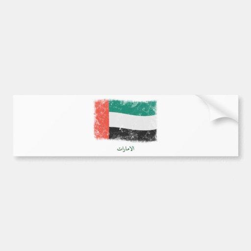 Grunge United Arab Emirates Flag Car Bumper Sticker