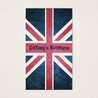Grunge United kingdom british union jack flag Business Card