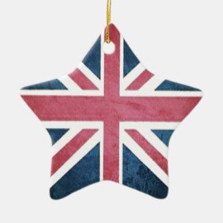 Grunge United kingdom british union jack flag Ceramic Ornament