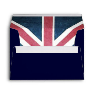 Grunge United kingdom british union jack flag Envelope