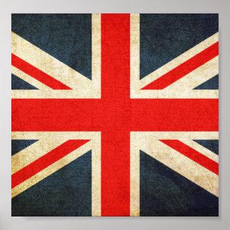 Grunge United Kingdom Flag Poster