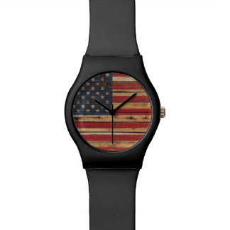 Grunge United States Flag Watch