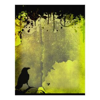 Grunge Urban Crow Letterhead