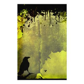 Grunge Urban Crow Stationery