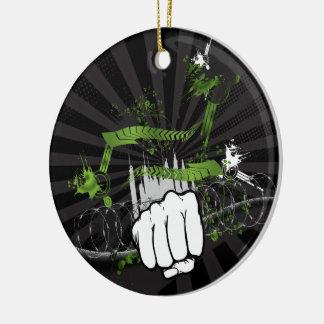 Grunge Urban Fist - Urban Warrior Ceramic Ornament