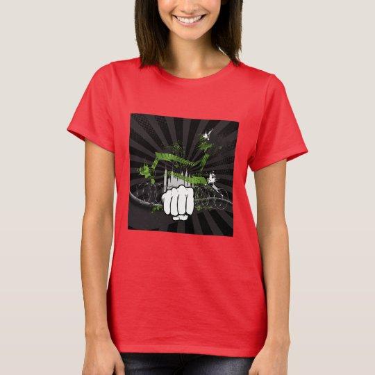Grunge Urban Fist - Urban Warrior T-Shirt