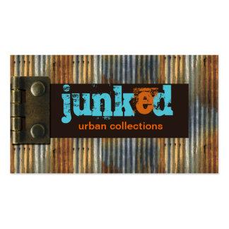 Grunge urbano de Junk'd Tarjetas De Visita