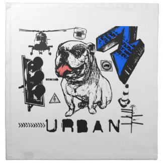 Grunge urbano - diseño del perro de Grunged Bull Servilleta