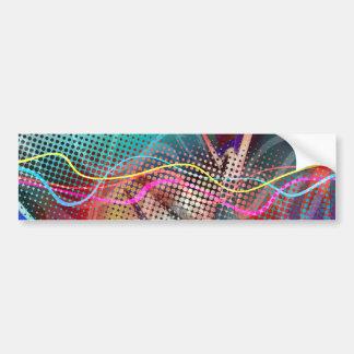 Grunge urbano enrrollado de la pintada texturizado pegatina para auto