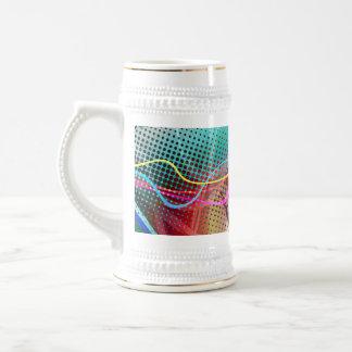 Grunge urbano enrrollado de la pintada texturizado jarra de cerveza