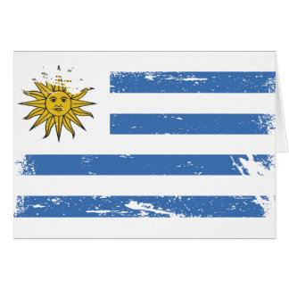 Grunge Uruguay Flag Card