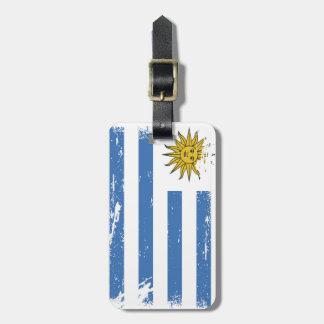 Grunge Uruguay Flag Luggage Tag
