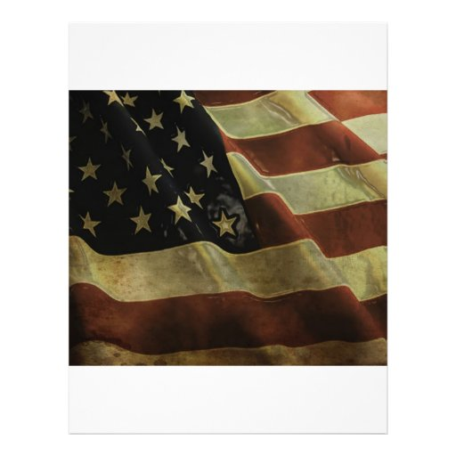 Grunge US Flag, gifts Personalized Flyer