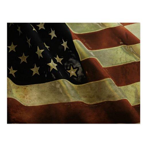 Grunge US Flag, gifts Postcard