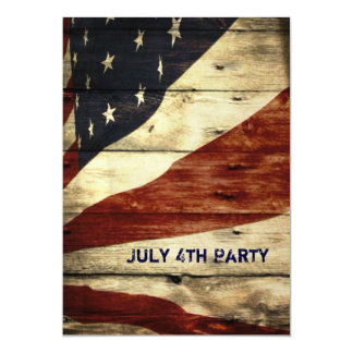 Grunge USA American Flag independence day party Card