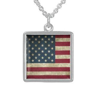 Grunge USA American Flag Patriotic fashion Custom Jewelry