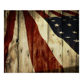 Grunge  USA American Flag Patriotic poster