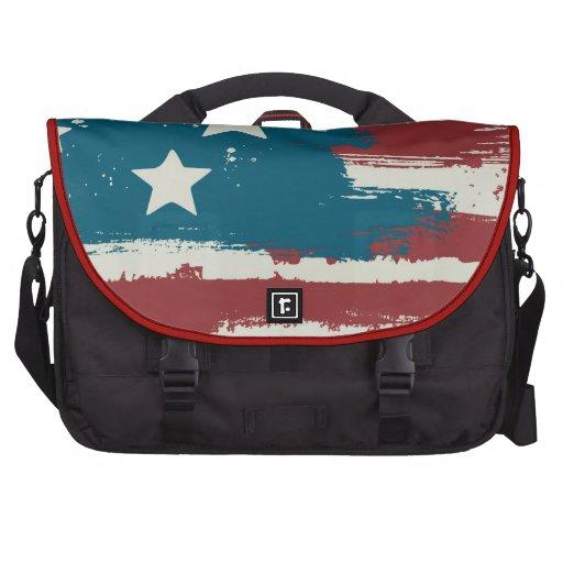 Grunge USA Flag Lap Top Bag Bags For Laptop