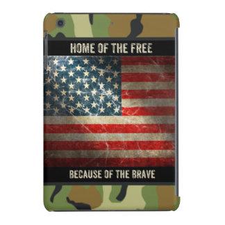 Grunge USA Flag on Camouflage 2 iPad Mini Case