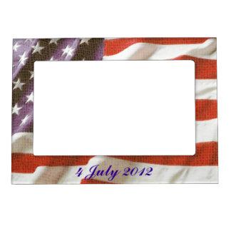 Grunge USA Flag photo frames Photo Frame Magnets