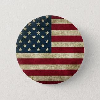 Grunge USA Flag Pinback Button