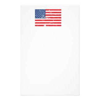Grunge USA flag Stationery