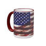 Grunge USA flag theme mug