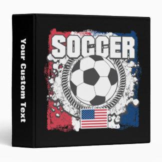 Grunge USA Soccer 3 Ring Binder