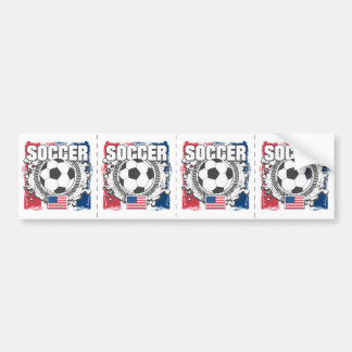 Grunge USA Soccer Bumper Sticker