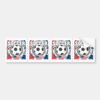 Grunge USA Soccer Bumper Sticker