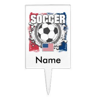 Grunge USA Soccer Cake Topper