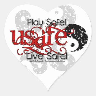 Grunge-USafe? Heart Sticker