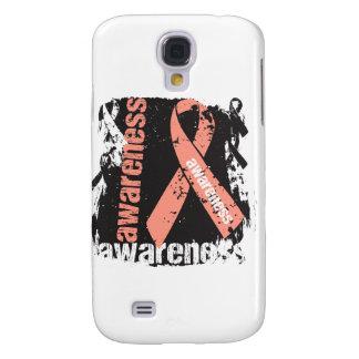 Grunge Uterine Cancer Awareness Galaxy S4 Cases