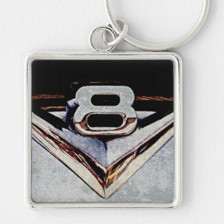 Grunge V8 Big Block Emblem Keychain