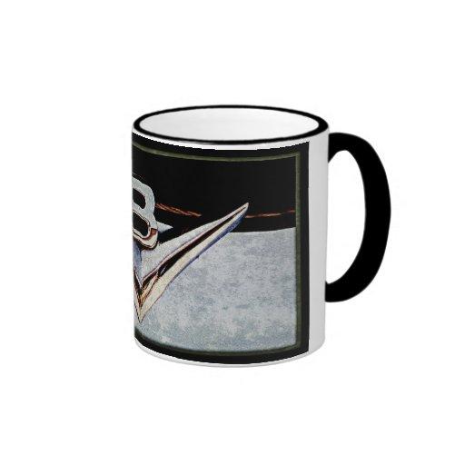 Grunge V8 Big Block Emblem Ringer Coffee Mug