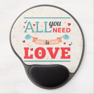 Grunge Valentines day colorful design Gel Mouse Pads