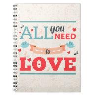 Grunge Valentines day colorful design Notebook