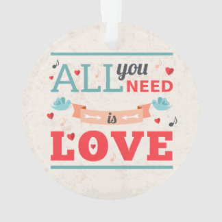 Grunge Valentines day colorful design Ornament