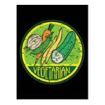 Grunge vegetariano postal