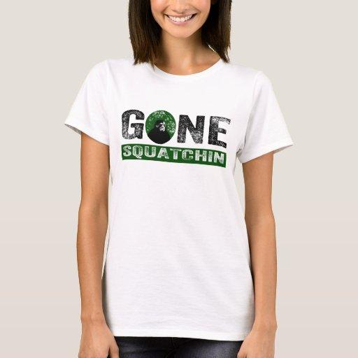 Grunge (verde) ido Squatch de Squatchin Playera