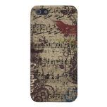 Grunge Vintage Bird Plum Swirls iPhone Cover iPhone 5/5S Covers