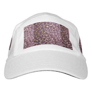 Grunge,vintage,burdeaux,gold,floral,antique,chic, Headsweats Hat