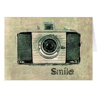 Grunge Vintage Camera Card