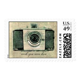 Grunge Vintage Camera Postage