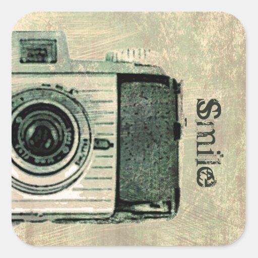 Grunge Vintage Camera Sticker
